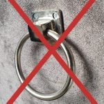 Geen ring op de achterzijde van de rugleuning